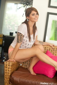 Hailey Leigh in Wicker Chair